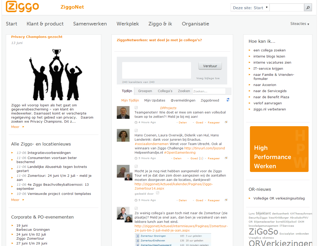 Homepage ZiggoNet